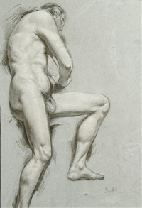 male nude study by august wilhelm goebel