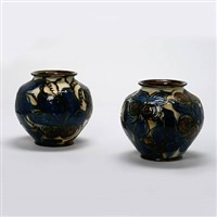 a pair of vases by kähler pottery (co.)