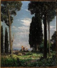 paesaggio con rovine by lidio ajmone