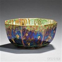fairyland octagonal bowl by wedgwood