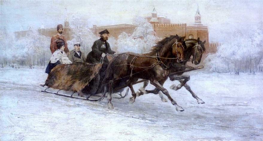 reessä (the sledge ride) by rudolf frentz the elder