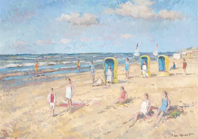 cabines à la plage by arie van noort