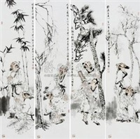 人物 (4 works) by liu zhijun