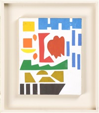 untitled (abstract composition) by shirley jaffe