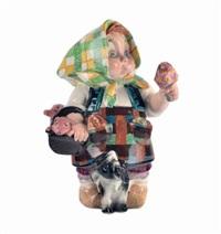 bambina con maialini e cane by sandro vacchetti