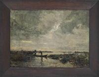 boatman at dusk by anton van anrooy