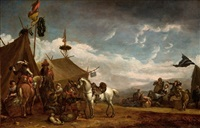 escena de batalla by philips wouwerman