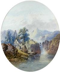 scenes on the rhine (pair) by edwin earp