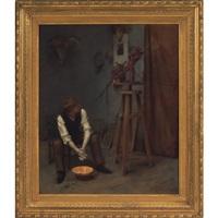 artist's studio by pierre emile cornillier