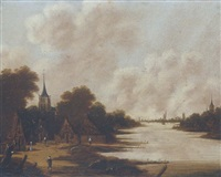 flusslandschaft by jan meerhout