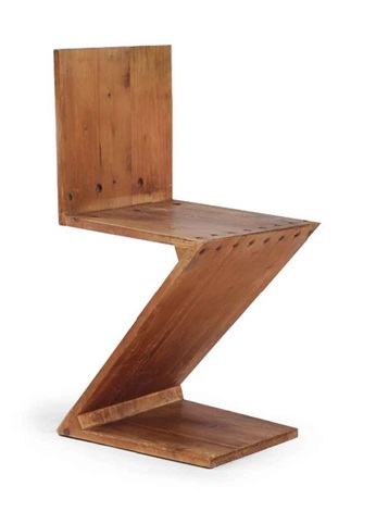 a zigzag chair by gerrit thomas rietveld