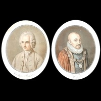 montaigne (+ jean jacques roulseau; 2 works) by pierre-michel alix