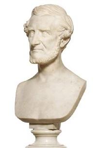 a portrait bust of frederik hammerich by august vilhelm saabye