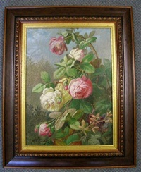 still life of roses by charles frederick hurten