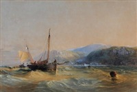 trawlers off the north devon coast by samuel phillips jackson