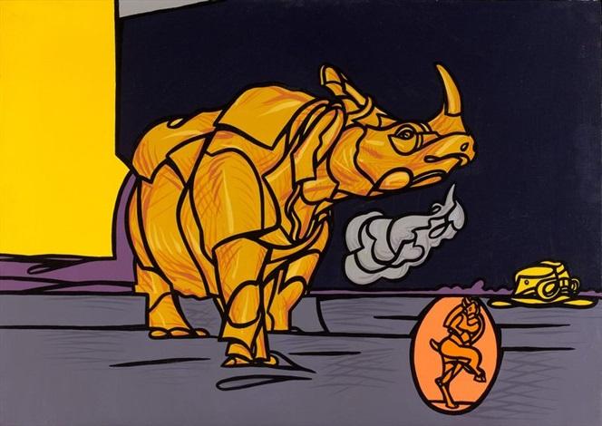 il rinoceronte by valerio adami