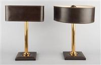 lot se composant de deux lampes de table (set of 2) by jacques adnet