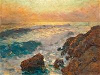 sziklás tengerpart by jenö karpathy