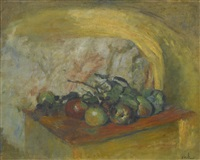 nature morte aux pommes et des mures by edouard vuillard