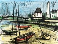 barques et phare by bernard buffet
