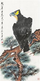tang yun eagle on the pine tree by tang yun