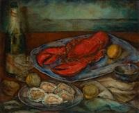 composition aux homard, huîtres et champagne by jean vervisch