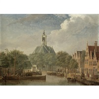 the hague, a view of the nieuwe kerk by jan ten compe