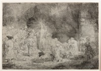 christ healing the sick by rembrandt van rijn