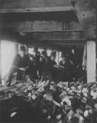 the short tail gang, under pier at foot of jackson street by jacob august riis