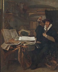 a physician in an interior by thomas wijck