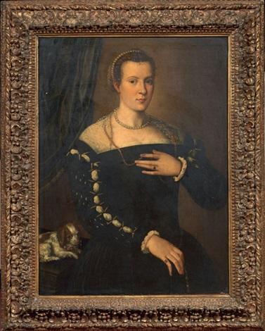 ritratto di dama con cagnolino by alessandro di cristofano allori