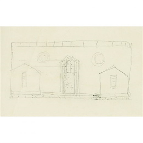 sketch of house for david whitney - scheme b by philip cortelyou johnson