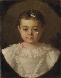 portrait de camille blanche by emma adèle (blanche) roslin