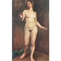 standing nude by dorothy hart drew
