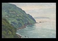 ocean in izu by hakutei ishii