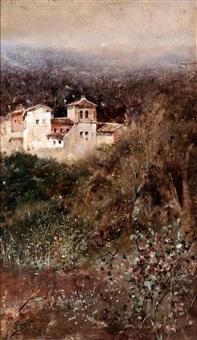 casas en paisaje by josé pinelo llull