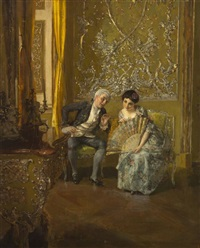 discreet conversation by albert raudnitz