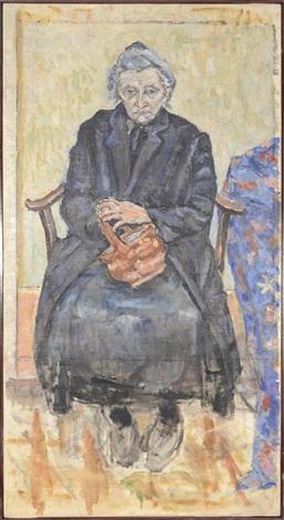 femme avec panier by jules pascin