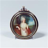 porträt der zarin maria fjodorowna by augustin ritt