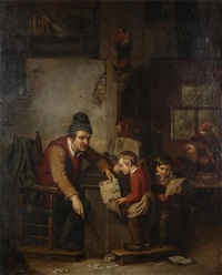 the teacher by adrien ferdinand de braekeleer