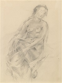 nude - study (+ another, irgr; 2 works) by natalia agapieva-zakharova