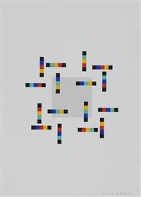 vier variationen um ein quadrat (portfolio of 4 w/colophon) by verena loewensberg