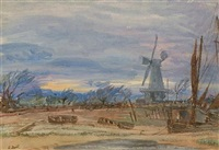 sunset at rye by francis h. dodd