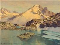 les drus, la verte depuis le lac blanc by charles henry contencin