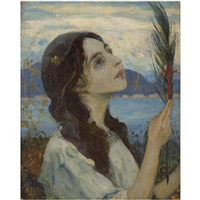 saint barbara by mikhail vasilievich nesterov