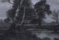 birken am weiher by ludwig fischbeck