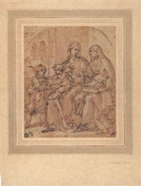maria mit kind, heiliger anna johannesknaben by avanzino nucci