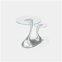 pushmepullyou table from the d'alba residence, glencoe by jordan mozer