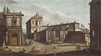 ansicht der villa aldobrandini mit den kirchen der heiligen domenico und sisto und der heiligen katharina von siena by jacopo fabris