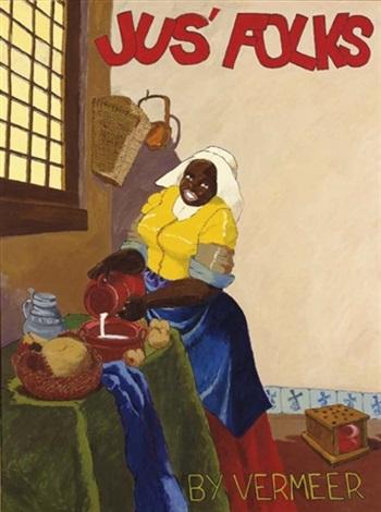 jus folks by vermeer by robert h colescott